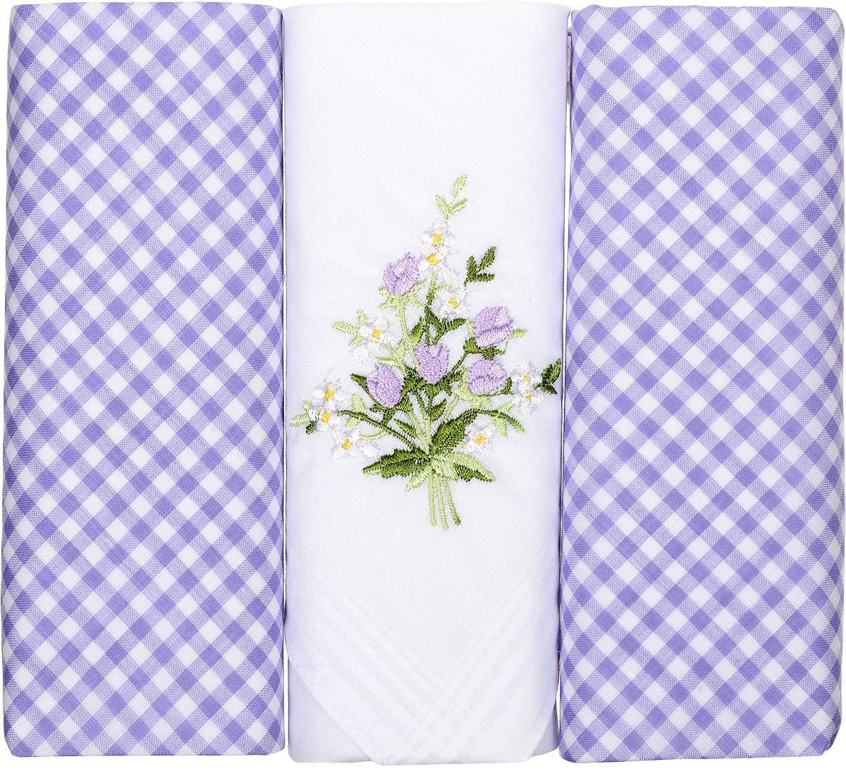 Платок носовой женский Zlata Korunka, цвет: белый, голубой, 3 шт. 90330-3. Размер 28 см х 28 см90330-3Небольшой женский носовой платок Zlata Korunka изготовлен из высококачественного натурального хлопка, благодаря чему приятен в использовании, хорошо стирается, не садится и отлично впитывает влагу. Практичный и изящный носовой платок будет незаменим в повседневной жизни любого современного человека. Такой платок послужит стильным аксессуаром и подчеркнет ваше превосходное чувство вкуса. В комплекте 3 платка.