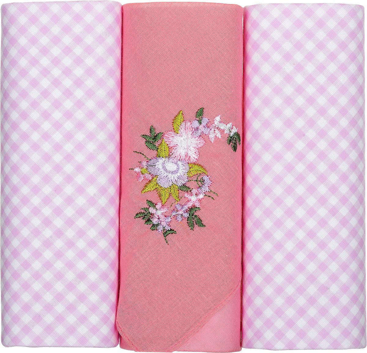 Платок носовой женский Zlata Korunka, цвет: розовый, 3 шт. 90330-2. Размер 28 см х 28 см90330-2Небольшой женский носовой платок Zlata Korunka изготовлен из высококачественного натурального хлопка, благодаря чему приятен в использовании, хорошо стирается, не садится и отлично впитывает влагу. Практичный и изящный носовой платок будет незаменим в повседневной жизни любого современного человека. Такой платок послужит стильным аксессуаром и подчеркнет ваше превосходное чувство вкуса. В комплекте 3 платка.