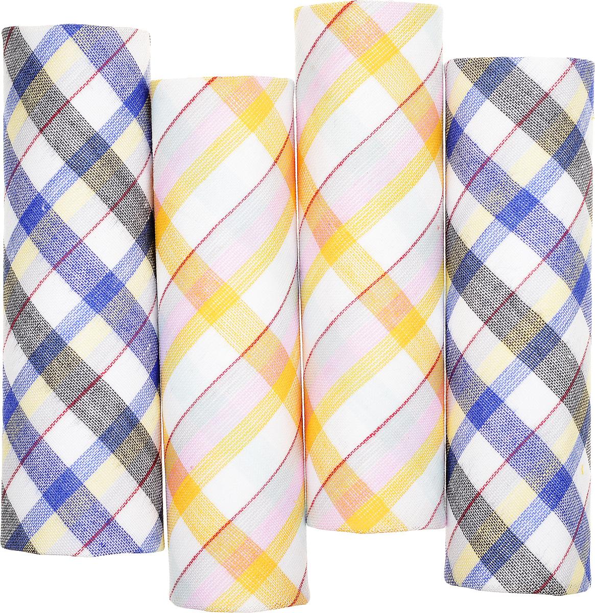 71420-14 Zlata Korunka Носовой платок женский, цвет: мультиколор, 29х29 см, 4 шт71420-14Платки носовые женские в упаковке по 4 шт. Носовые платки изготовлены из 100% хлопка, так как этот материал приятен в использовании, хорошо стирается, не садится, отлично впитывает влагу.