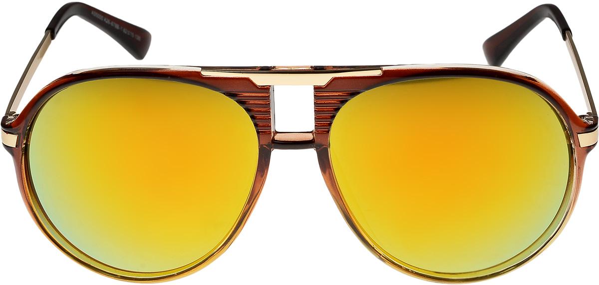Очки солнцезащитные мужские Vittorio Richi, цвет: коричневый. ОС5000с26-678-1/17fОС5000с26-678-1/17fОчки солнцезащитные Vittorio Richi это знаменитое итальянское качество и традиционно изысканный дизайн.