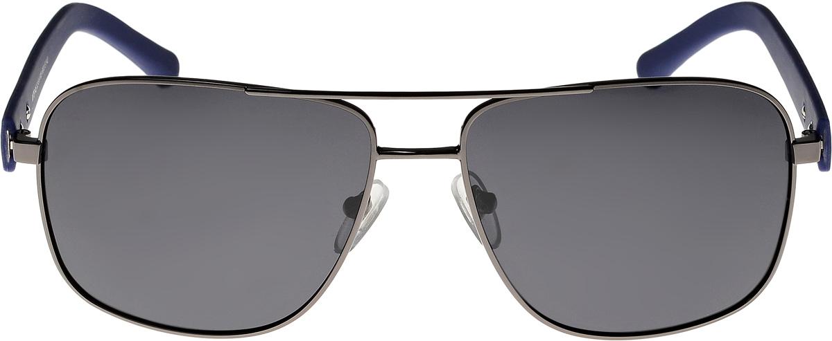 Очки солнцезащитные мужские Vittorio Richi, цвет: черный, голубой. ОС8146с2-91-F08/17fОС8146с2-91-F08/17fОчки солнцезащитные Vittorio Richi это знаменитое итальянское качество и традиционно изысканный дизайн.