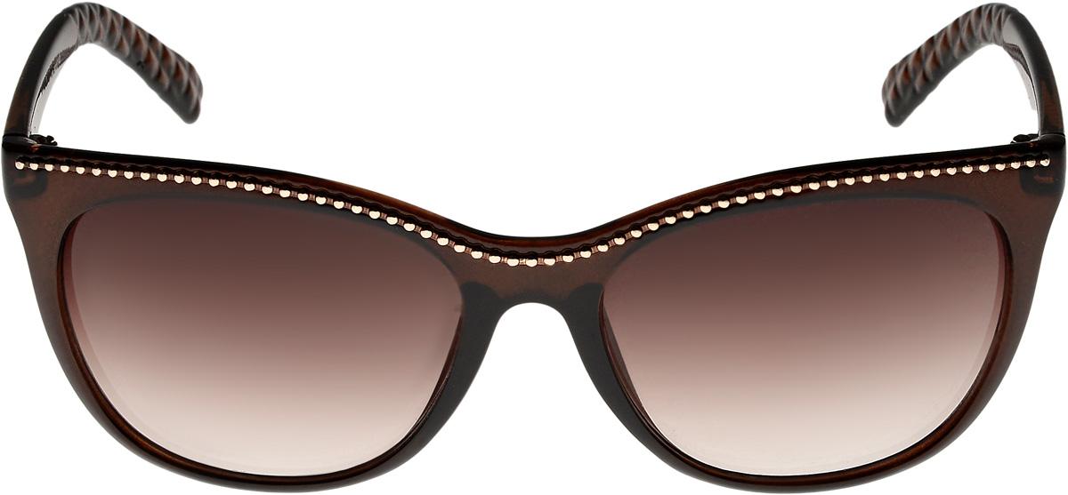 Очки солнцезащитные женские Vittorio Richi, цвет: коричневый. ОС4110c320-477-12/17fОС4110c320-477-12/17fОчки солнцезащитные Vittorio Richi это знаменитое итальянское качество и традиционно изысканный дизайн.