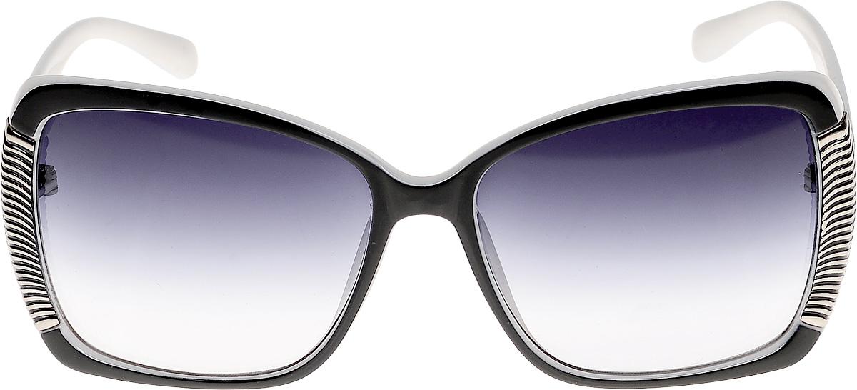 Очки солнцезащитные женские Vittorio Richi, цвет: черный, белый. ОС511781328-522-9/17fОС511781328-522-9/17fОчки солнцезащитные Vittorio Richi это знаменитое итальянское качество и традиционно изысканный дизайн.