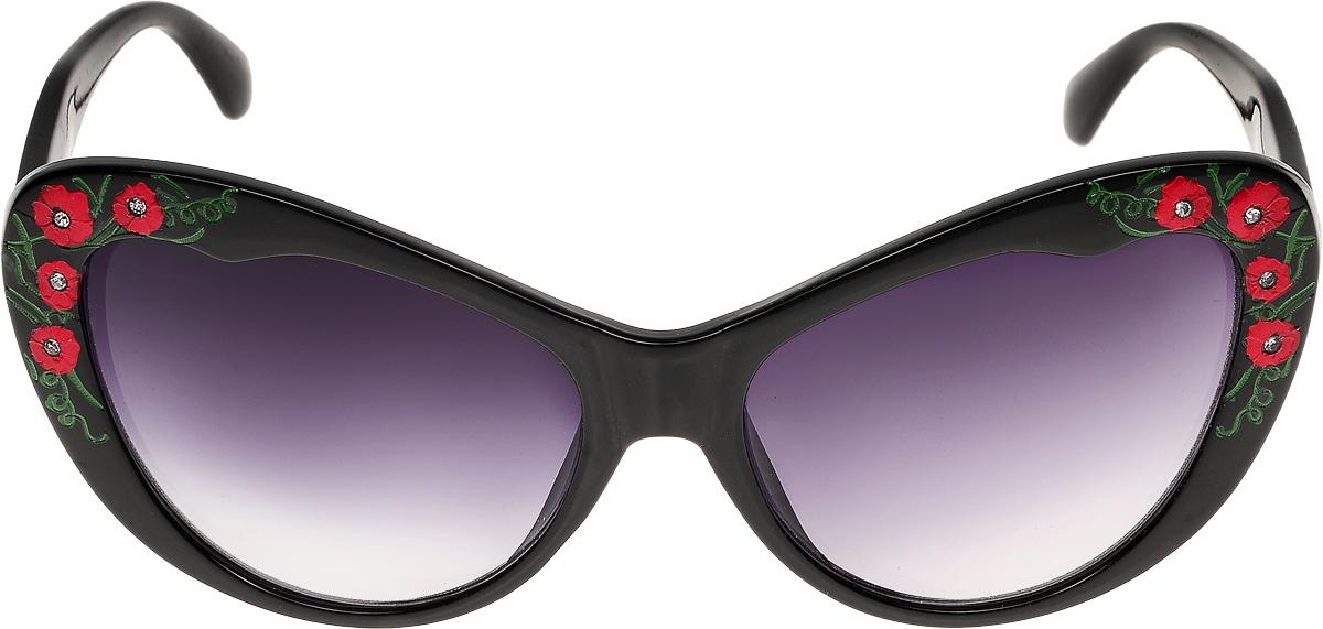 Очки солнцезащитные женские Vittorio Richi, цвет: черный. ОС1623с1/17fОС1623с1/17fОчки солнцезащитные Vittorio Richi это знаменитое итальянское качество и традиционно изысканный дизайн.