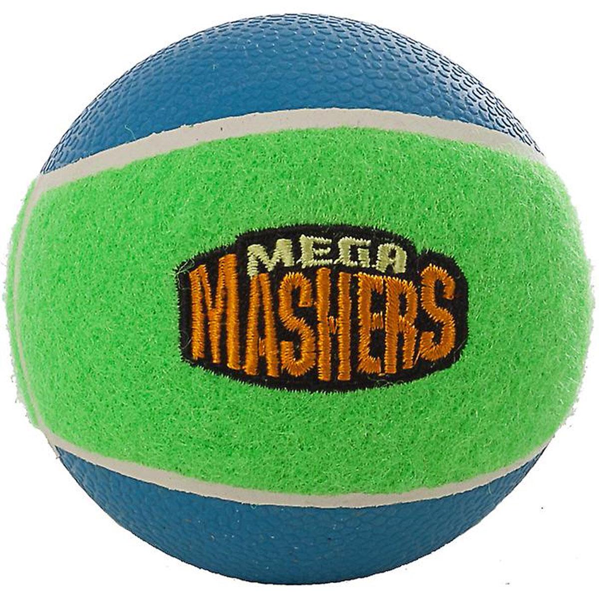 Игрушка для собак Mega Mashers Мячик, диаметр 8 см1904Игрушка для собак Mega Mashers Мячик выполнена из специальной усиленной вспененной резины, т.е. игрушка не полая, а литая и в то же время очень гибкая и упругая. Покрыта синтетическим фетром. Игрушка оформлена в стиле теннисного мячика. Она порадует вашего любимца, а вам доставит массу приятных эмоций, ведь наблюдать за игрой всегда интересно и приятно. Даже оставшись в одиночестве, ваша собака будет увлеченно играть в эту игрушку. Диаметр: 8 см.