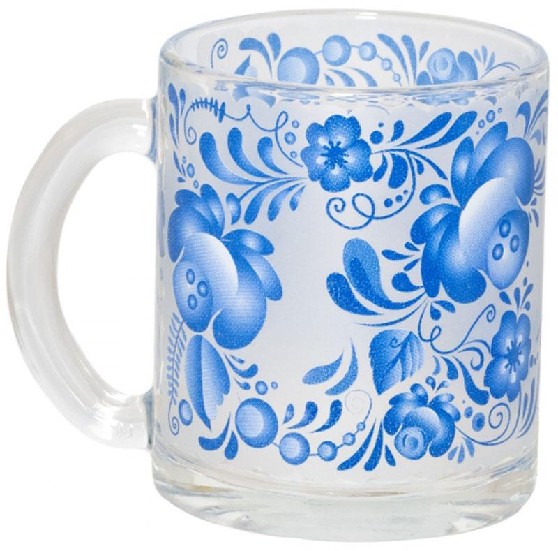 Кружка OSZ Чайная. Русские узоры. Гжель, 320 мл04C1208-RU1Кружка ЧАЙНАЯ РУССКИЕ УЗОРЫ ГЖЕЛЬ 320мл.Изготовлено из стекла.