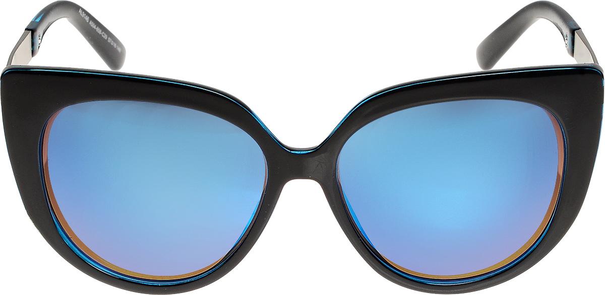 Очки солнцезащитные женские Vita Pelle, цвет: черный, синий. ОС9146с504-658-29/17fОС9146с504-658-29/17fОчки солнцезащитные Vita Pelle это знаменитое итальянское качество и традиционно изысканный дизайн.