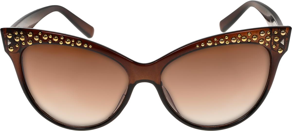 Очки солнцезащитные женские Vittorio Richi, цвет: коричневый. ОС1230с2/17fОС1230с2/17fОчки солнцезащитные Vittorio Richi это знаменитое итальянское качество и традиционно изысканный дизайн.