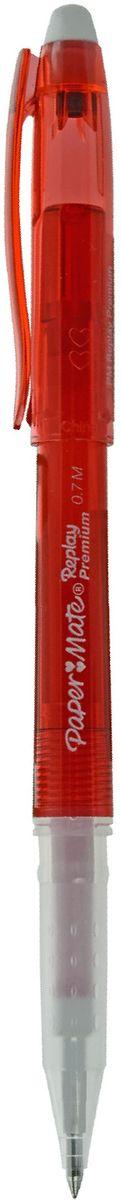 Paper Mate Ручка гелевая Replay Premium со стираемыми чернилами и ластиком цвет чернил красный1901324Ручка с гелевыми стираемыми чернилами Replay Premium. С ластиком, цвет чернил - красный.
