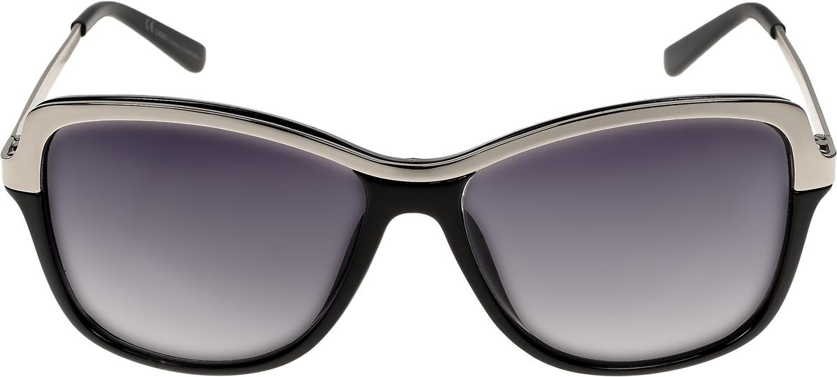 Очки солнцезащитные женские Vittorio Richi, цвет: черный, серебристый. ОС043c10-639-5/17fОС043c10-639-5/17fОчки солнцезащитные Vittorio Richi это знаменитое итальянское качество и традиционно изысканный дизайн.