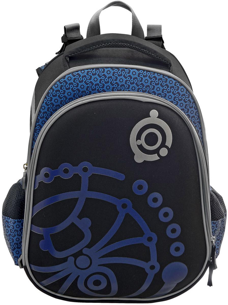 Action! Рюкзак детский Алиса с наполнением цвет синий 2 предмета