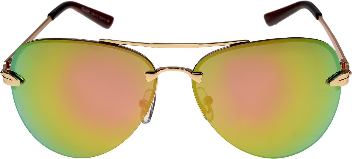 Очки солнцезащитные мужские Vittorio Richi, цвет: золотистый, зеленый. ОС2095с36-713/17fОС2095с36-713/17fОчки солнцезащитные Vittorio Richi это знаменитое итальянское качество и традиционно изысканный дизайн.
