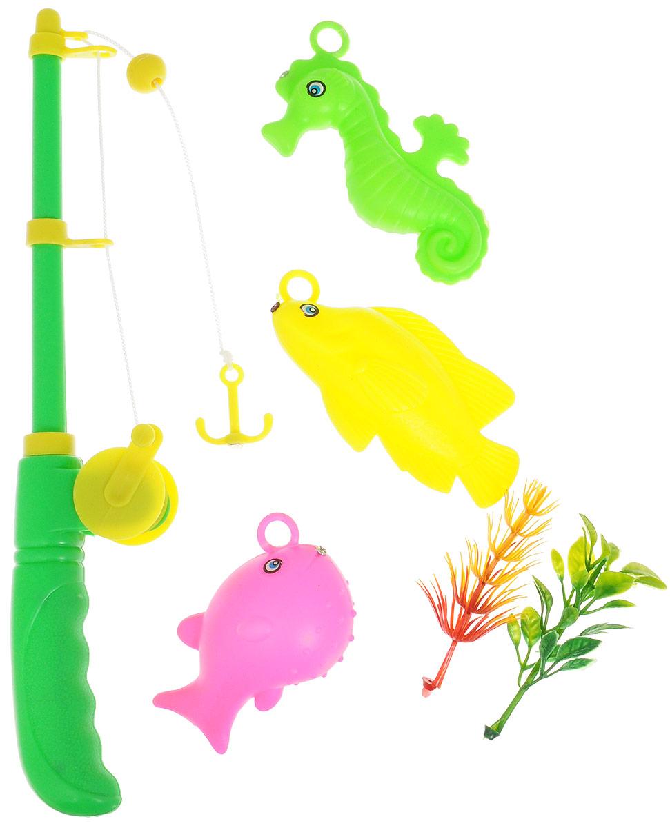 Junfa Toys Игровой набор Удочка с 3 морскими животными YLB7