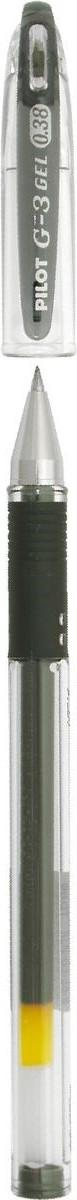 Pilot Ручка гелевая G-3 цвет чернил черныйBLN-G3-38-BПластиковый прозрачный корпус с резиновым упором для пальцев. Диаметр шарика - 0,38 мм. Ширина линии - 0,2 мм. Цвет чернил - черный