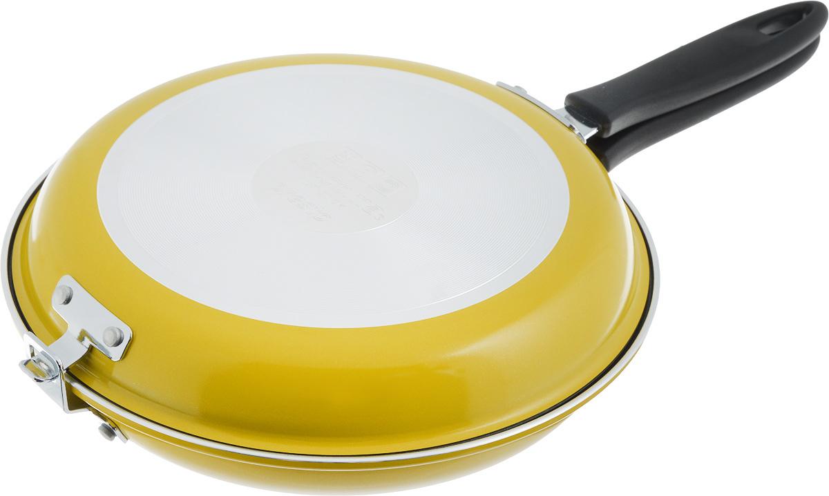 Двухсторонняя сковорода Tescoma Presto, цвет: желтый, 26 см. 594346594346_желтый