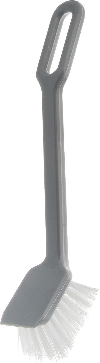 Щетка для посуды Svip Мила, цвет: серебряныйSV3182СБЩетка для мытья посуды – имеет удобную эргономичную ручку с отверстием для размещения на крючке. Ворс щетки прочный и не деформируется при высоких температурах воды. На головке щетки расположен удобный скребок для снятия особо стойкого загрязнения.