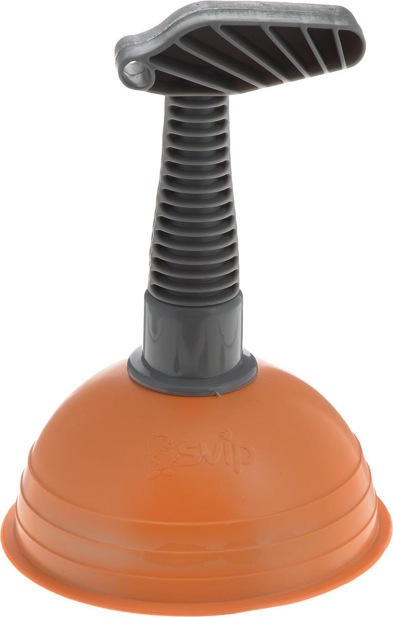 Вантуз Svip, цвет: оранжевый, серый, высота 18,5 смSV3214РЖ-9PSВантуз Svip выполнен из пластика и прочного ПВХ. Изделие является инструментом для прочистки ванн, раковин, сливов, унитазов. Ручка вантуза имеет удобную форму. На ручке имеется отверстие, за которое можно подвесить в любое удобное для вас место. Вантуз прост в использовании, справиться с ним может любая домохозяйка, которой надоели проблемы с канализацией. Высота вантуза: 18,5 см. Диаметр присоски: 13 см.