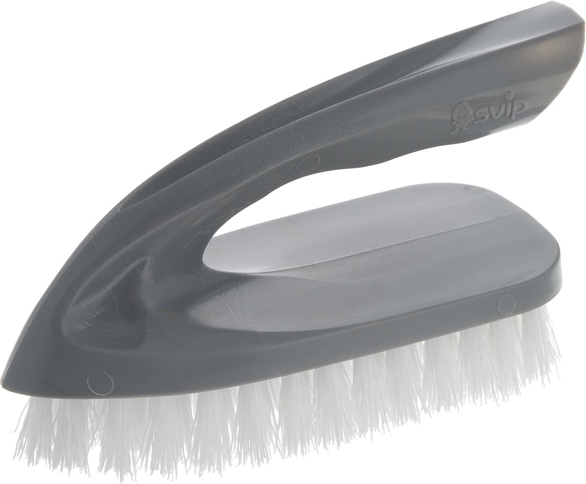 Щетка для одежды Svip Утюжок Мега. Классика, цвет: серебряный, белый, 14 х 6 х 8,5 смSV3834СБ-36РSЩетка для одежды Svip Утюжок Мега. Классика, изготовлена из высококачественного полипропилена и предназначена для удаления ворсинок, волос, пыли и шерсти животных с различных поверхностей. Щетка имеет удобную ручку, обеспечивающую удобный хват. Щетина средней жесткости не повреждает поверхность. Щетка для одежды Svip Утюжок Мега. Классика станет незаменимым аксессуаром в вашем доме или автомобиле. Длина щетины: 2,5 см, Размер щетки: 14 х 6 х 8,5 см.