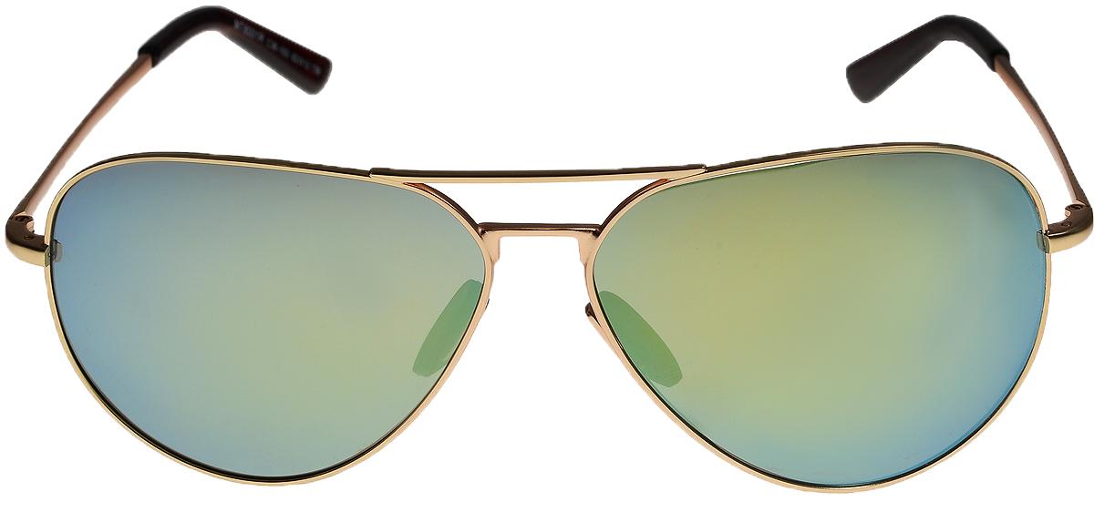 Очки солнцезащитные Vittorio Richi, цвет: золотистый, голубой. ОС8001с36-103/17fОС8001с36-103/17fОчки солнцезащитные Vittorio Richi это знаменитое итальянское качество и традиционно изысканный дизайн.