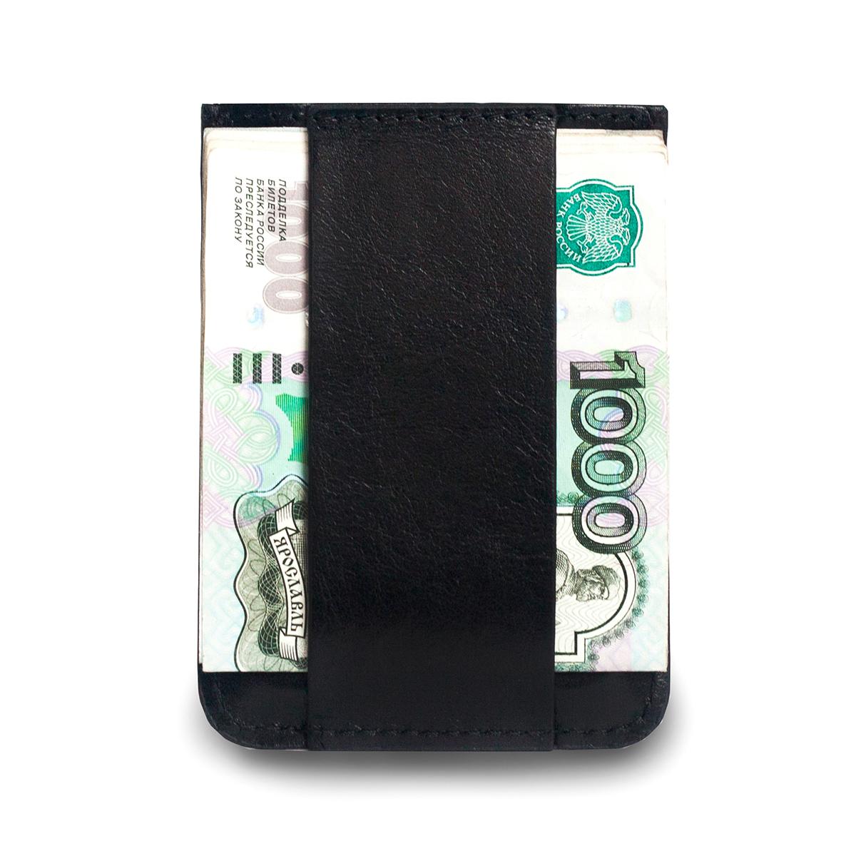 Кошелек Zavtra, цвет: черный. zav01blazav01blaКомпактный кошелек ZAVTRA, выполненный из натуральной кожи, вмещает 4-5 банковских или визитных карт, права или пропуск и имеет фиксатор для купюр.