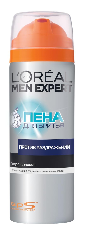 "L'Oreal Paris Men Expert Пена для бритья ""Против раздражения"", 200 мл A5995910"