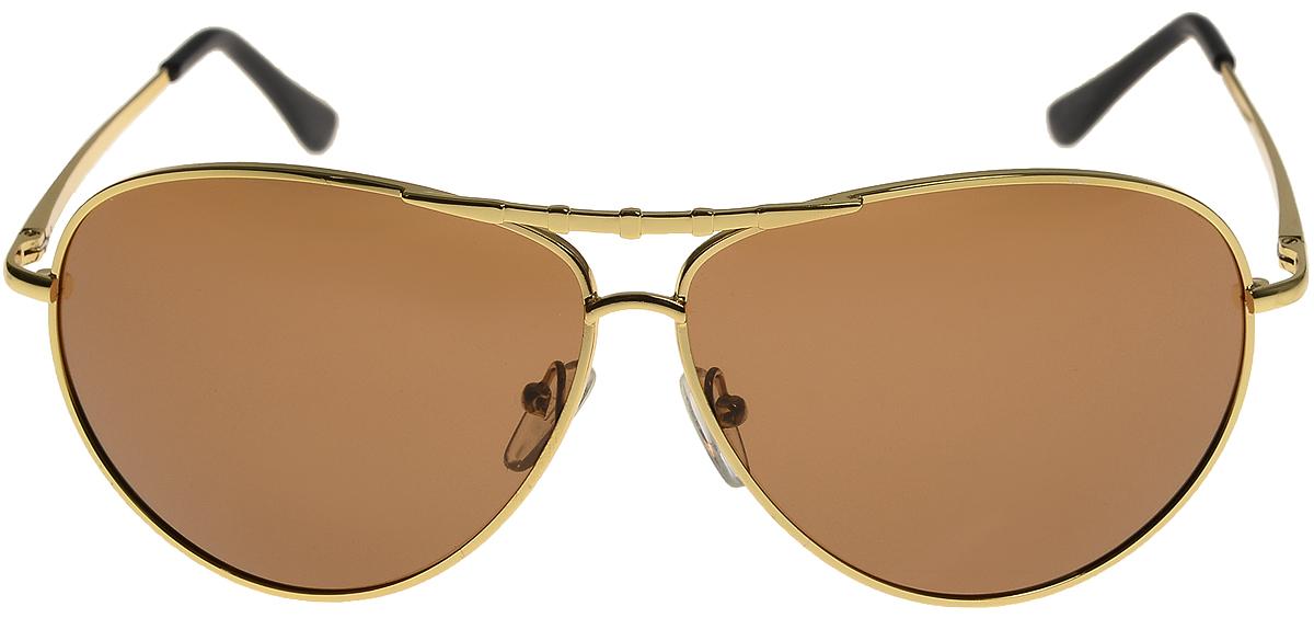 Очки солнцезащитные мужские Vittorio Richi, цвет: золотистый, коричневый. ОС80025-6/17fОС80025-6/17fОчки солнцезащитные Vittorio Richi это знаменитое итальянское качество и традиционно изысканный дизайн.