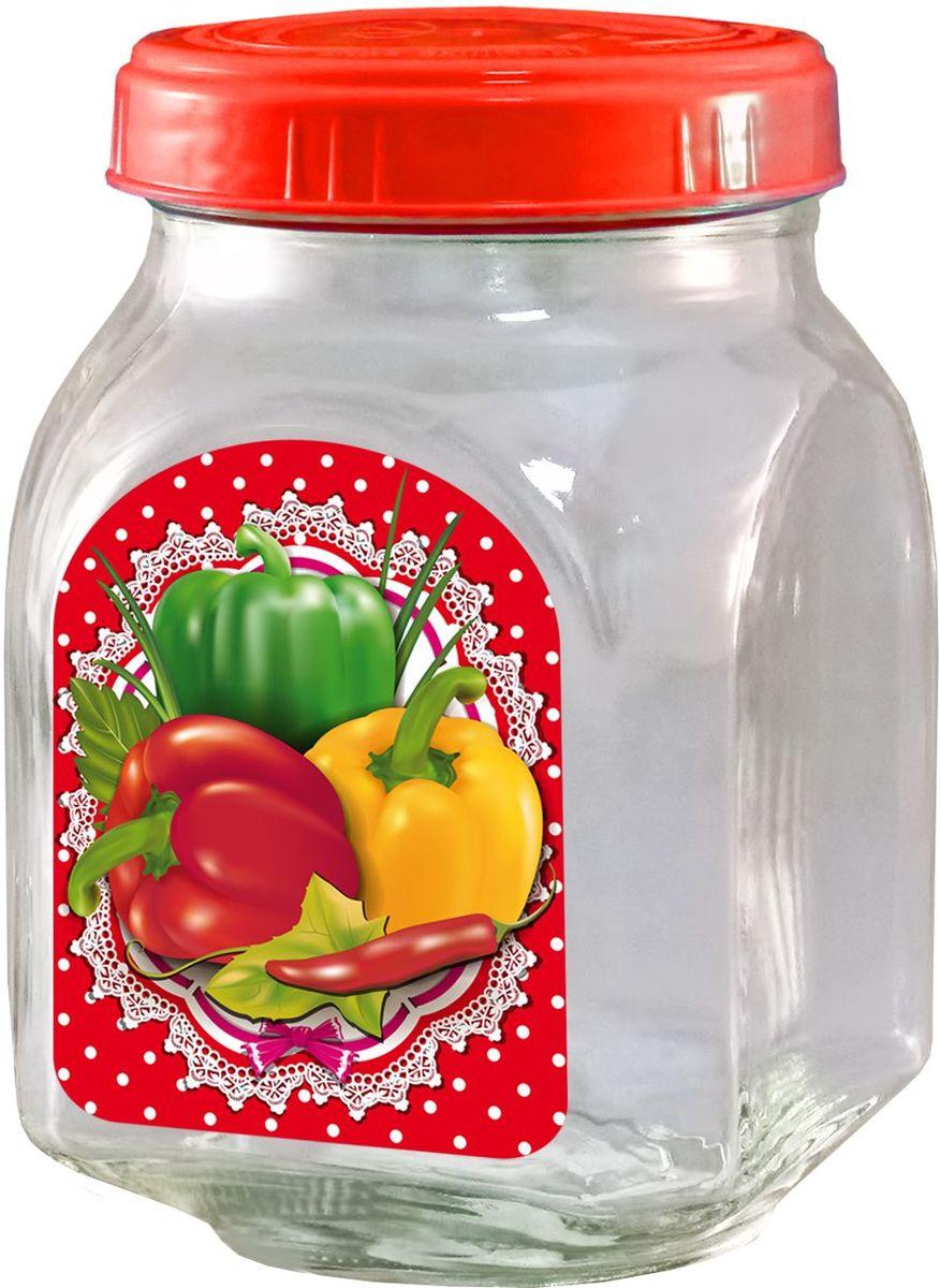 Банка для хранения Квестор, c крышкой, 800 мл. 626-026626-026Банка из бесцветного стекла для консервированной пищевой продукции. В том числе для сыпучих пищевых продуктов.
