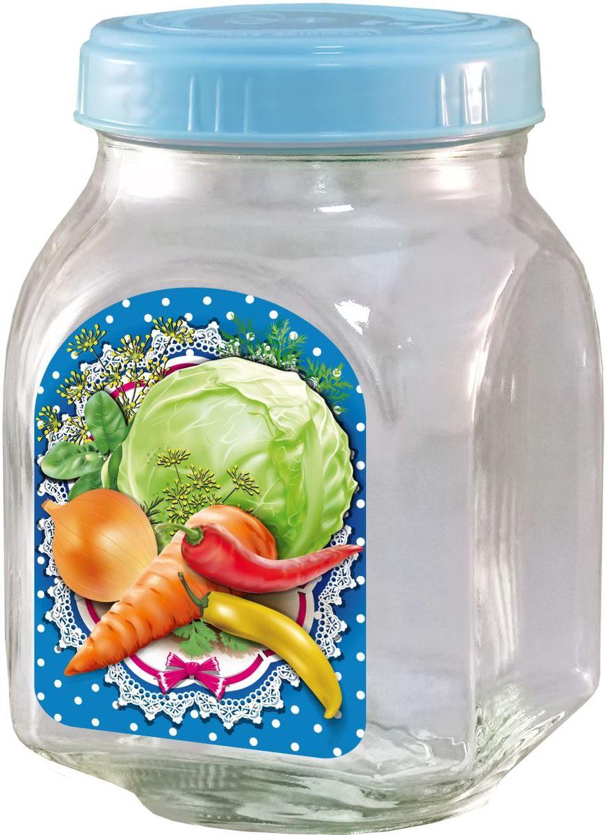 Банка для хранения Квестор, c крышкой, 800 мл. 626-027626-027Банка из бесцветного стекла для консервированной пищевой продукции. В том числе для сыпучих пищевых продуктов.