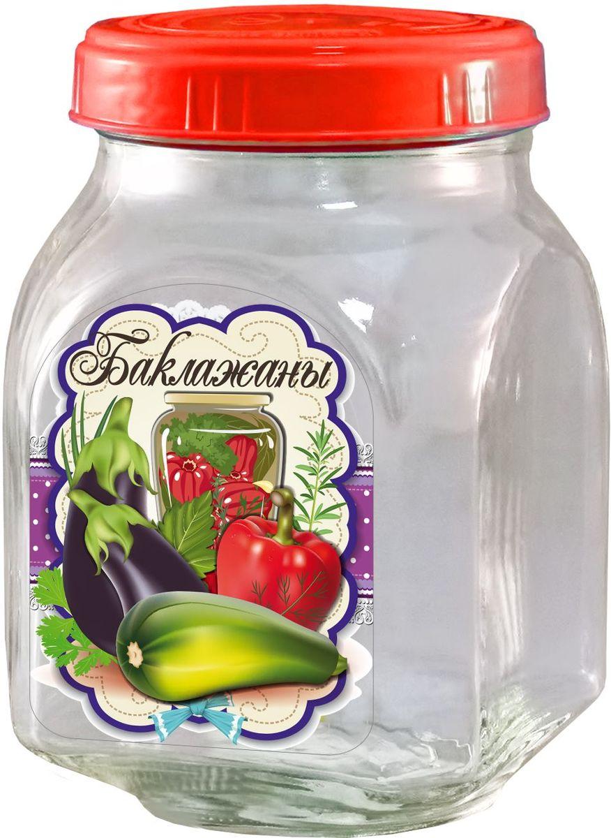 Банка для хранения Квестор Баклажаны, c крышкой, 800 мл. 626-035626-035Банка из бесцветного стекла для консервированной пищевой продукции. В том числе для сыпучих пищевых продуктов.