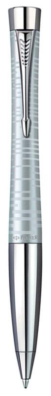 Parker Ручка шариковая Urban Premium цвет корпуса серебряныйPARKER-S1906870Шариковая ручка Parker Urban Premium в серебряном корпусе из нержавеющей стали с лаковым покрытием имеет металлическую зону захвата и поворотный механизм. Стильная ручка нового поколения. Urban Premium - правильный выбор для тех, кто понимает качество, как достижение лучшего по всем показателям - в виде надежной, динамичной, функциональной конструкции в сочетании с идеальным дизайнерским решением. Возвращение к городскому духу: смешение металлических эффектов. Толщина линии письма: 0.8 мм.
