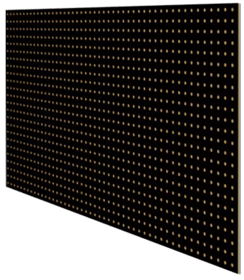 """Перфопанель """"MasterProf"""", 120 х 59,5 х 0,5 см, цвет: черный ТД.010056"""