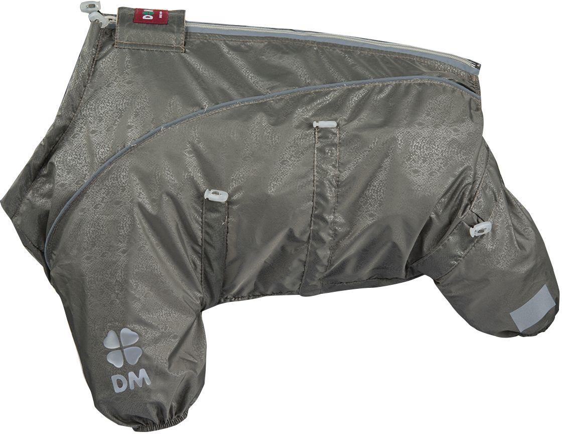 Комбинезон для собак Dogmoda Doggs Лайт, для девочки, №28. DM-160330DM-160330Dogmoda представляет новинку в коллекции Doggs - Лайт. Комбинезон изготовлен из водоотталкивающей и ветрозащитной ткани, без подкладки, его можно одевать как и в дождливую так и в сухую погоду, защищая питомца от грязи и пыли. Главная особенность моделей Doggs – четыре затяжки-фиксатора, позволяющие одежде идеально садиться по фигуре, даже если она не является стандартной. Размер комбинезона Doggs соответствует длине спины от холки до хвоста. спина 28 шея 56 грудь 68. Породы: мопс, французский бульдог, керн-терьер, вестхайленд-уайт-терьер, бишон фризе, кавалер кинг чарльз спаниель, пудель карликовый, немецкий ягдтерьер, джек-рассел-терьер, бостон-терьер. Ваша собака все еще не любит одеваться? Познакомьте ее с Doggs! -Облегчающий процесс надевания и носки; -ничто не сковывает и не ограничивает свободу движений питомца; -одежда плотнее прилегает к телу и идеально садиться по фигуре; -полностью закрывается доступ сквознякам, холодному воздуху и влаге.