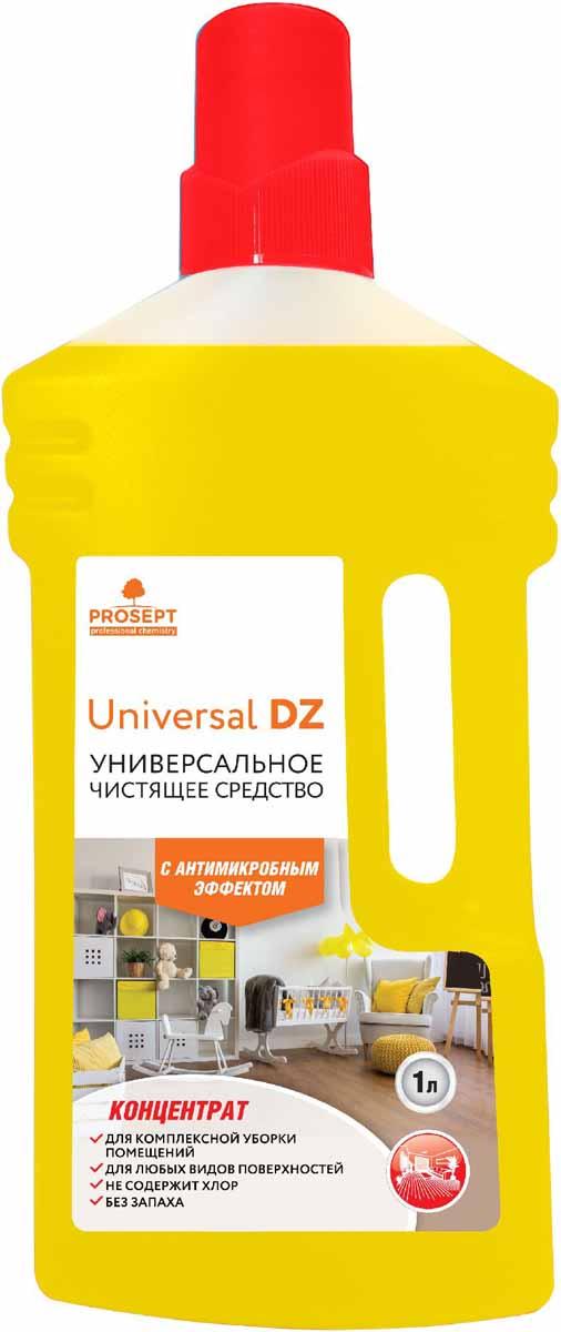 Средство моющее Prosept Universal DZ, универсальное, с дезинфицирующим эффектом, концентрат, 1 л107-1Нейтральное моющее низкопенное средство на основе ЧАС с антимикробным эффектом для мытья полов, стен, лестниц, дверей, корпусной мебели. Удаляет основные виды загрязнений со всех типов твердых поверхностей. Обладает широким антимикробным действием - уничтожает микроорганизмы (бактерии, грибки).