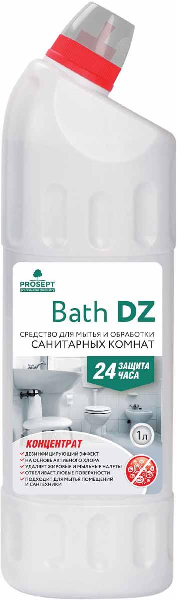 Средство для уборки и дезинфекции санитарных комнат Prosept Bath DZ, концентрат, 1 л108-1Щелочное гелеобразное средство с антимикробным эффектом на основе активного хлора. Для ежедневного и периодического мытья сантехники (унитазов, писсуаров, раковин, ванн), стен, полов. Удаляет грязесолевые, жировые, мыльные налеты, неприятные запахи. Обеззараживает поверхности, уничтожая микроорганизмы (бактерии, грибки). Обладает выраженным отбеливающим эффектом.