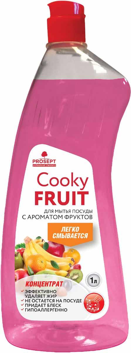 Гель для мытья посуды Prosept Cooky Fruits, концентрат, с ароматом фруктов, 1 л127-1Густое гелеобразное средство для мытья посуды, столовых приборов, кухонного и кондитерского инвентаря, посуды для приготовления пищи.