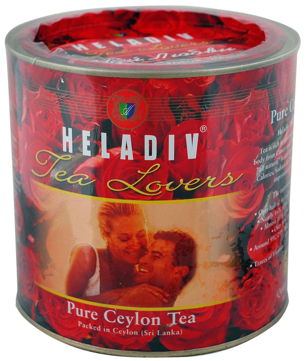Heladiv Tea Lovers чай черный листовой, 450 г4791007001331Heladiv Tea Lovers (Хеладив Чай Любви) - это черный крупнолистовой цейлонский чай высшего сорта. Этот напиток снимает чувство усталости, способствует выведению вредных веществ из организма и укрепляет сердечно-сосудистую систему. Чай Хеладив - это экологически чистый продукт, который может стать неотъемлемой частью вашей здоровой диеты.
