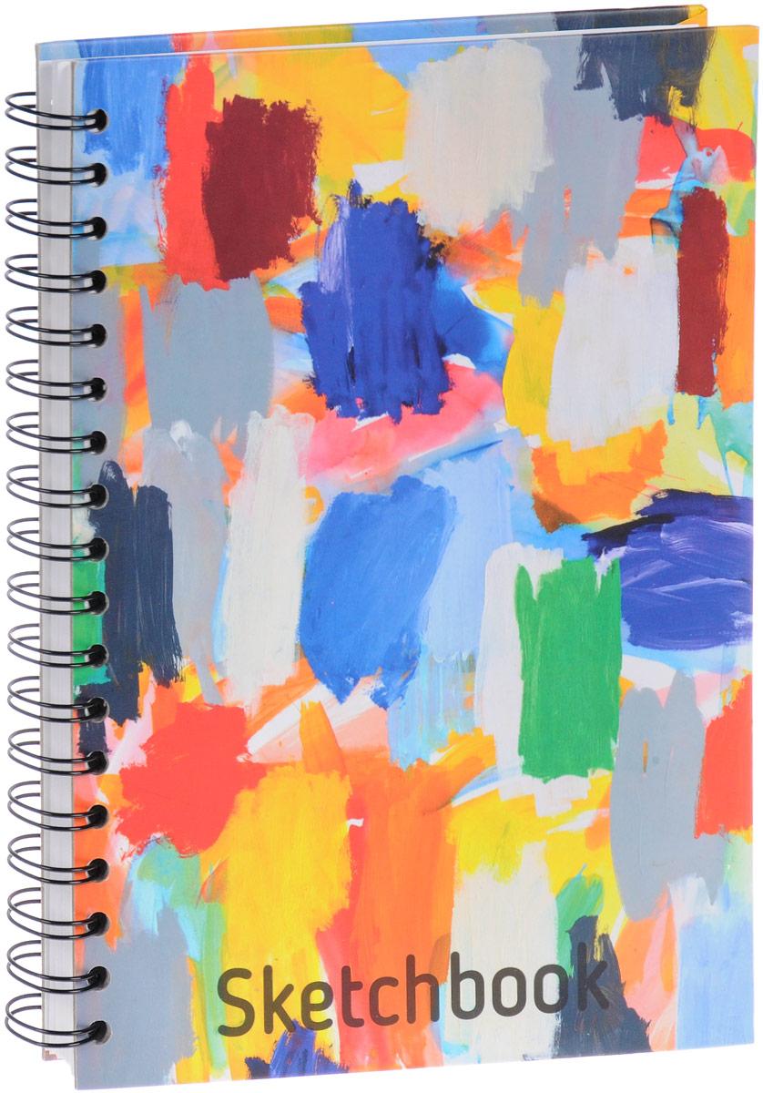 Попурри Скетчбук Палитра 80 листов4810764001559Удобный скетчбук Палитра на металлическом гребне с блоком из плотной белой бумаги предназначен для рисования. Скетчбук имеет обложку из твердого картона. Обложка оформлена небрежными мазками цветных красок. Такой скетчбук - настоящая находка для художника, иллюстратора или архитектора.