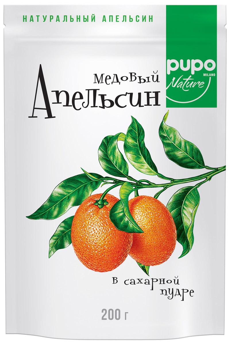 Pupo Медовый апельсин конфеты неглазированные, 200 г14.3059Фортунелла (кумкват) - это маленькие апельсины ,которые называютзолотыми. Они растут на плантациях Юго-Восточной Азии и проходят сушку естественным,экологичным образом под лучами солнца. Вяленые и выдержанные в медовом сиропе плоды Фортунелла - это богатый витаминами и минералами десерт, который имеет пряный медовый вкус, тонизирует и укрепляет иммунитет. Настоящий источник энергии и хорошего настроения.