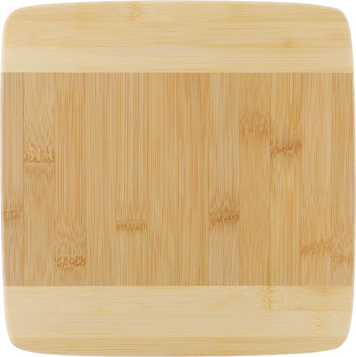 Доска разделочная Hans & Gretchen, 37 х 14 см28LB-3101Прямоугольная разделочная доска Hans & Gretchen выполнена из натурального бамбука. Бамбук обладает природными антибактериальными свойствами. Доски отличаются долговечностью, большой прочностью и высокой плотностью, легко моются, не впитывают запахи и обладают водоотталкивающими свойствами, при длительном использовании не деформируются. Разделочная доска Hans & Gretchen прекрасно подойдет для приготовления и сервировки пищи. Рекомендации по уходу: - очищать сразу после использования; - просушивать после мытья; - не использовать при высокой температуре. Характеристики: Размер разделочной доски: 37 х 14 х 2 см.
