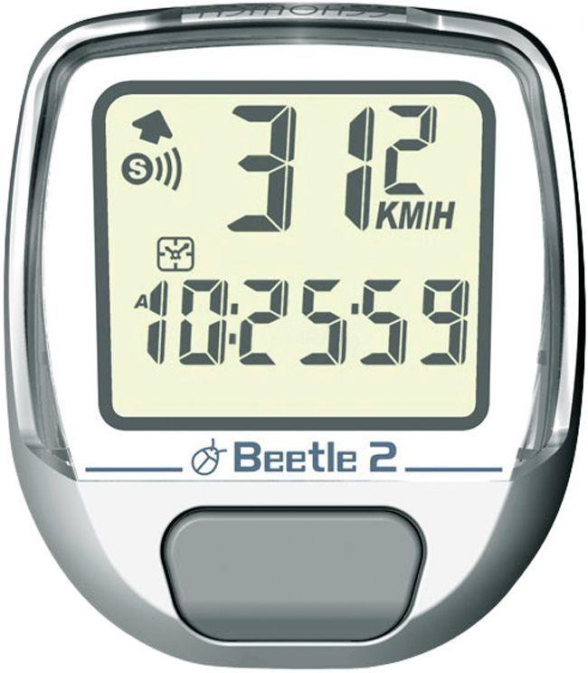 Велокомпьютер Echowell Beetle-2, 8 функций, цвет: белыйBeetle 2_белыйПроводной велокомпьютер Echowell Beetle 2 с восемью функциями в стильном корпусе предназначен для использования при занятиях велоспортом, велотуризмом и просто катании на велосипеде. Это удобный и простой в использовании электронный прибор, предоставляющий велосипедисту всю необходимую информацию о поездке. Имеет отличную водо и пылезащиту. Велокомпьютер состоит из двух частей соединенных проводом - дисплея, внешне похожего на электронные часы и датчика скорости. Дисплей крепится на руле с возможностью мгновенно отсоединить его, когда нет желания оставлять на велосипеде без присмотра или под дождем. Магнитный датчик скорости (геркон) крепится рядом с колесом. Велокомпьютер определяет скорость движения с точностью до десятых долей, дистанцию - с точностью до 10 метров. На дисплее функции поочередно сменяют друг друга. Все операции и настройки выполняются одной кнопкой.Функции: - Текущая скорость - Средняя скорость - Скорость максимальная - Время ...