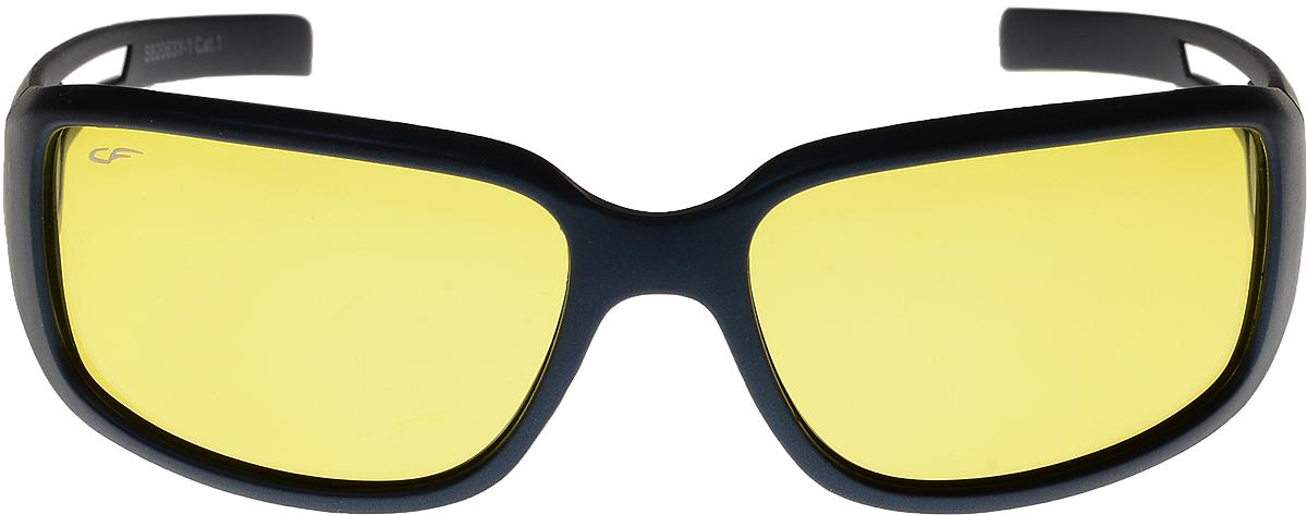 Очки солнцезащитные мужские Cafa France, цвет: синий. S82063YS82063YОчки Cafa France - это стильный аксессуар, незаменимый для всех водителей. Очки водителя Cafa France представлены в двух типах линз, которые обеспечивают максимальный комфорт при вождении в любое время суток и в любую погоду. Очки с желтыми линзами уменьшают ослепление от фар встречных автомобилей и защищают от бликов. В снег, дождь, туман, и даже ночью и в сумерках вы можете быть уверены, что изображение останется четкими и контрастными. Создаваемый эффект солнца способствует улучшению настроения, а также снижает утомляемость и сонливость. Очки с темными линзами Cafa France гарантируют 100% защиту от УФ-лучей, а также защищают от бликов и отраженного света, что существенно снижает риск ДТП. В отличие от обычных солнцезащитных очков, очки водителя Cafa France обладают оптимальной степенью затемнения, благодаря чему обеспечивается идеальный обзор дороги. Очки водителя Cafa France имеют самую высокую эффективность поляризации - 99,9% (видимость без бликов), линзы, состоят из...