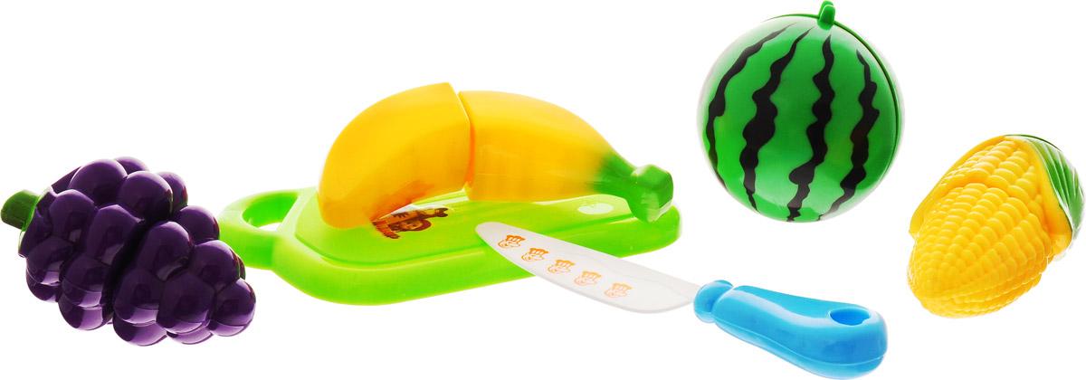Играем вместе Игрушечный набор овощей и фруктов Маша и Медведь 6 предметов