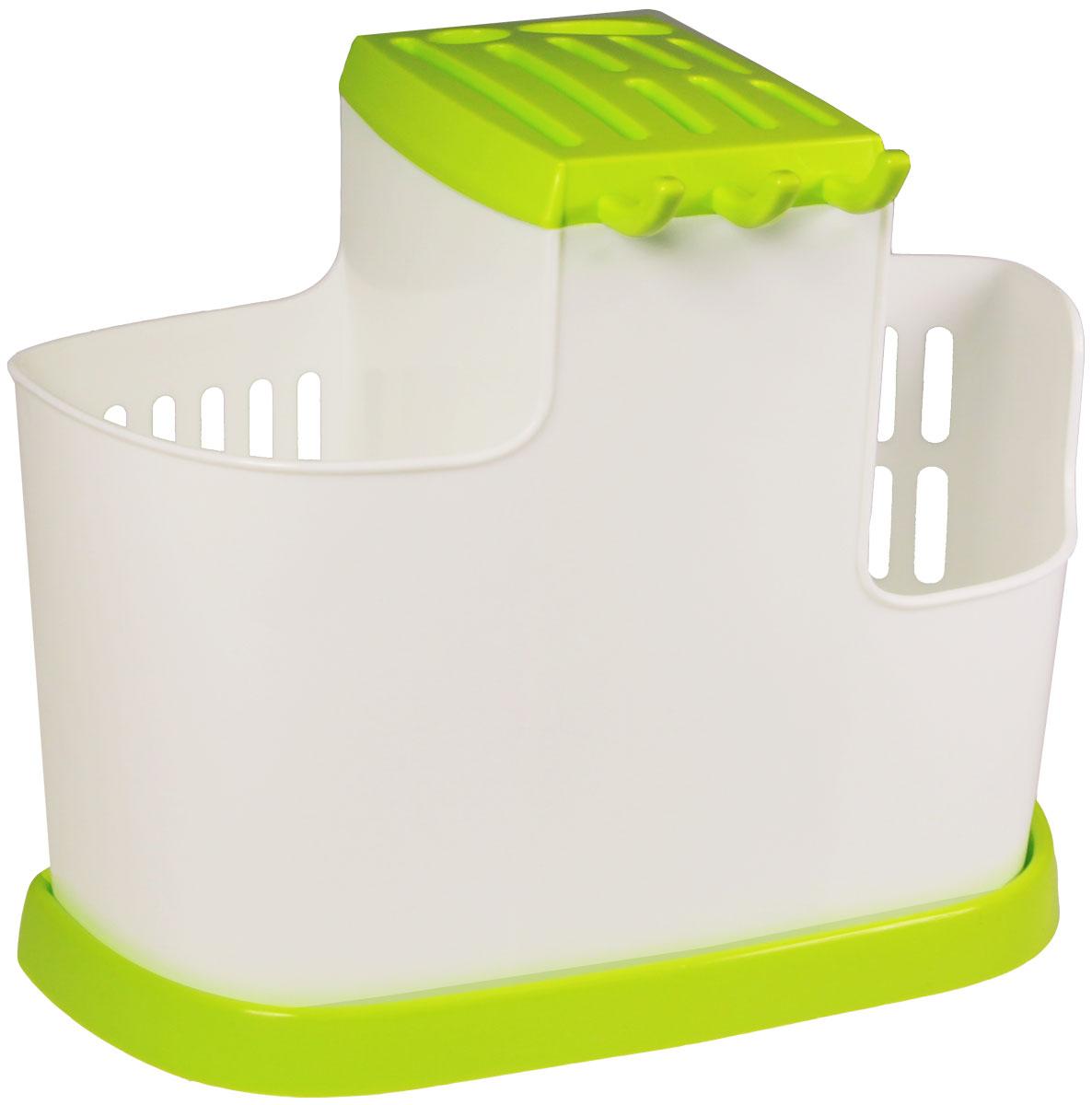 Органайзер кухонный Idea, цвет: салатовый, 19 х 25 х 14,5 смМ 1178