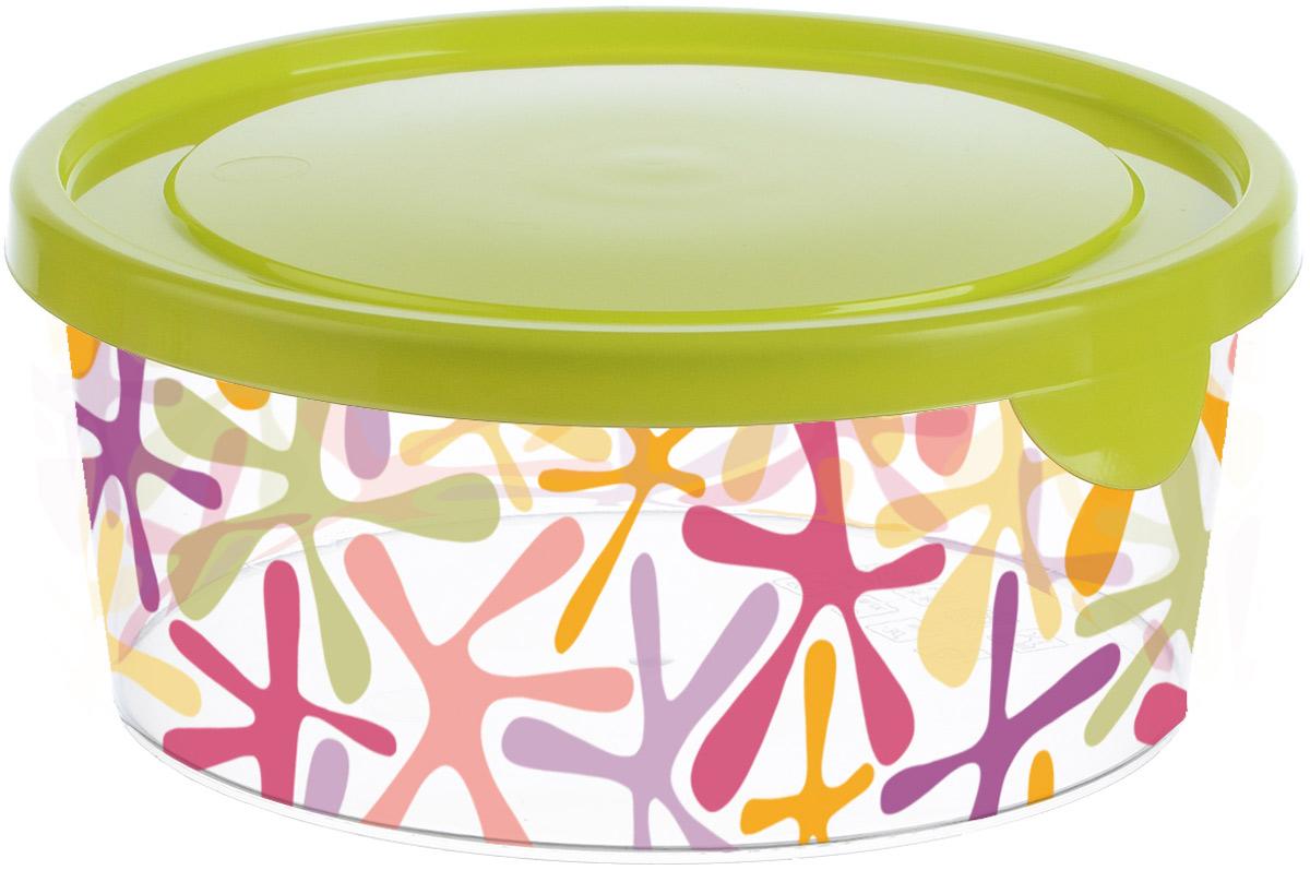 Емкость для продуктов Idea Деко, круглая, цвет: салатовый, 0,75 лМ 1446