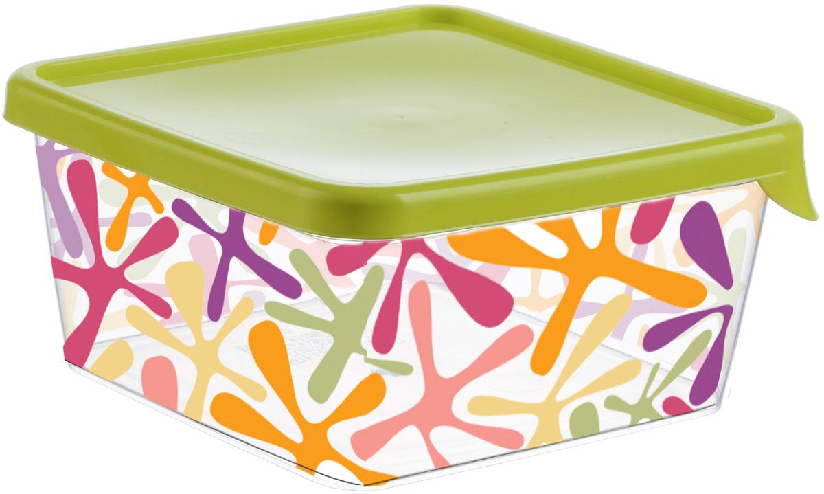Емкость для продуктов Idea Деко, квадратная, цвет: салатовый, 0,75 лМ 1448