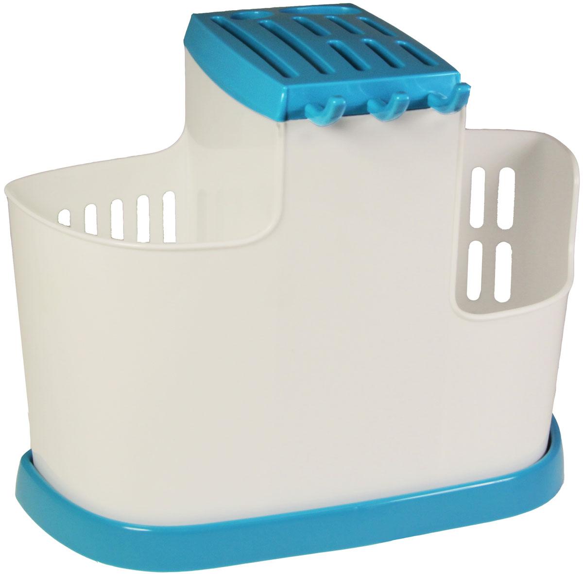 Органайзер кухонный Idea, цвет: бирюзовый, 19 х 25 х 14,5 смМ 1178
