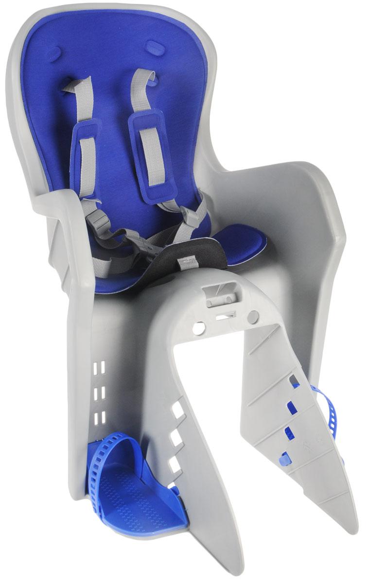 "Велокресло детское ""Stern"", на раму, цвет: серый, синий, 36 х 26 х 85 см CKC-2WN."