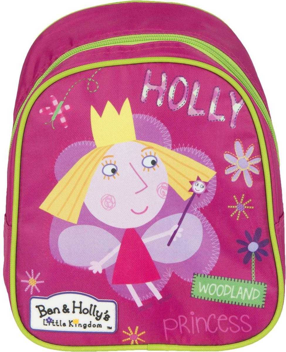 Ben&Holly Рюкзак дошкольный цвет розовый31686Рюкзак дошкольный Ben&Holly– это красивый и удобный аксессуар для вашего ребенка. В его внутреннем отделении на молнии легко поместятся не только игрушки, но даже тетрадка или книжка. Благодаря регулируемым лямкам, рюкзачок подходит детям любого роста. Удобная ручка помогает носить аксессуар в руке или размещать на вешалке. Износостойкий материал с водонепроницаемой основой и подкладка обеспечивают изделию длительный срок службы и помогают держать вещи сухими в дождливую погоду. Аксессуар декорирован ярким принтом (сублимированной печатью), устойчивым к истиранию и выгоранию на солнце.