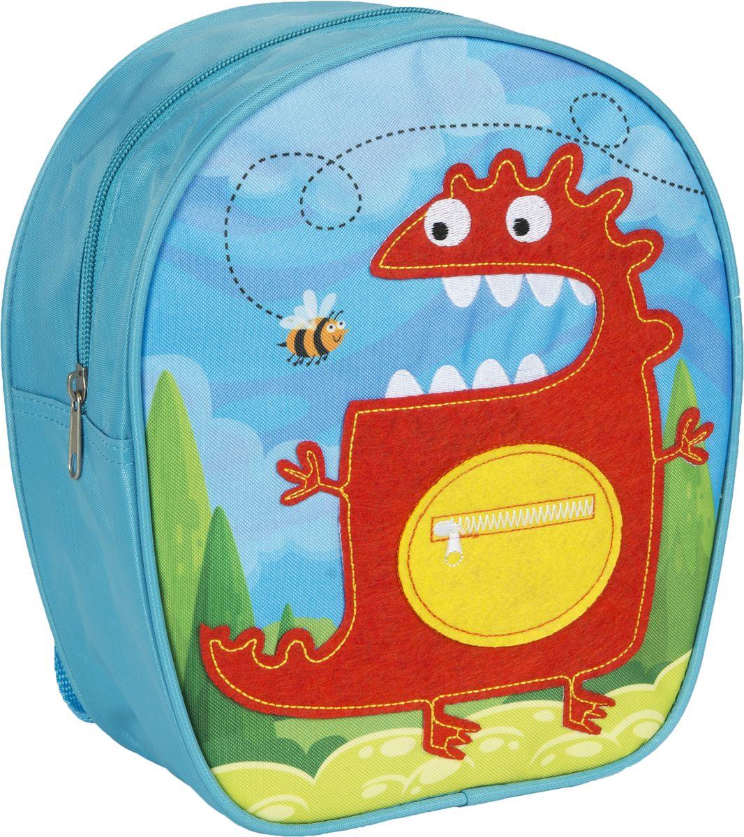 Росмэн Рюкзак дошкольный Монстр 3200932009Очаровательный дошкольный рюкзачок «Монстр» ТМ «РОСМЭН – это невероятно привлекательный аксессуар для вашего малыша. В его внутреннем отделении на молнии легко поместятся не только игрушки, но даже тетрадка или книжка. Благодаря регулируемым лямкам, рюкзачок подходит детям любого роста. Удобная ручка помогает носить аксессуар в руке или размещать на вешалке. Износостойкий материал с водонепроницаемой основой и подкладка обеспечивают изделию длительный срок службы и помогают держать вещи сухими в дождливую погоду. Аксессуар декорирован ярким принтом (сублимированной печатью), устойчивым к истиранию и выгоранию на солнце, аппликацией из фетра и вышивкой. Размер: 22х25х9 см.