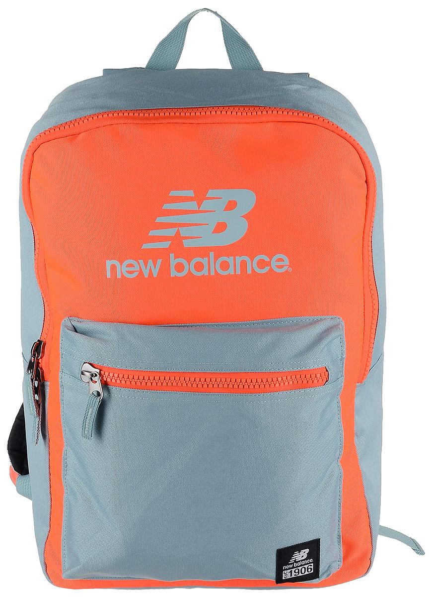 Рюкзак New Balance Booker Backpack, цвет: неоновый оранжевый, светло-серый. 500045/AO500045/AOСтильный городской рюкзак New Balance Booker Backpack выполнен из полиэстера и оформлен фирменной символикой. Изделие имеет одно отделение, которое застегивается на застежку-молнию. Внутри находится накладной карман для ноутбука или планшета. Снаружи, на передней стенке расположен накладной объемный карман на застежке-молнии. Рюкзак оснащен широкими регулируемыми лямками и ручкой для переноски в руке. Уплотненная спинка обеспечивает комфорт при переноске рюкзака.